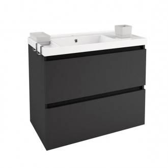 Mobile con lavabo in resina 80 cm Antracite B-Box BATH+