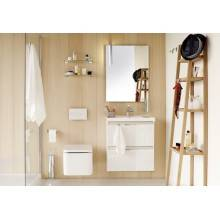 Mobile con lavabo in resina 80 cm Rovere cioccolato B-Box BATH+