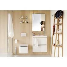 Mobile con lavabo in resina 80 cm Rovere cioccolato B-Box BATH+