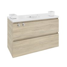 Mobile con lavabo in porcellana 100 cm Rovere naturale B-Box BATH+