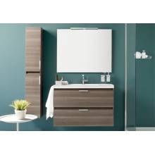 Mobile con lavabo in resina 100 cm Frassino B-Box BATH+