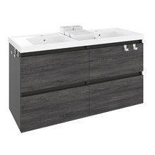 Mobile con lavabo in resina 2 vasche 120 cm Antracite B-Box BATH+