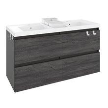 Mobile con lavabo in resina 2 vasche 120 cm Antracite B-Box BATH+