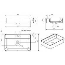 Lavabo rettangolare Sanlife 60x40 (foro)