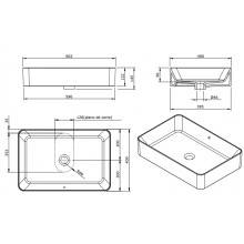 Lavabo rettangolare Sanlife 60x40