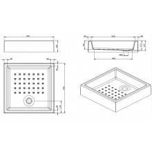 Piatto doccia MOSAICO 70x70x16