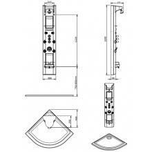 Colonna RELAX Angolare con miscelatore termostatico