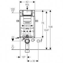 Modulo d'installazione Kombifix con Cassetta Sigma 12 cm GEBERIT