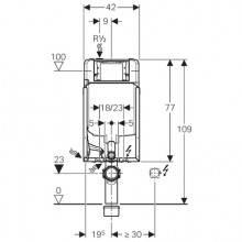 Modulo d'installazione Kombifix con Cassetta Sigma 8 cm GEBERIT