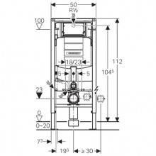 Modulo d'installazione Duofix con Cassetta Sigma 12 cm GEBERIT