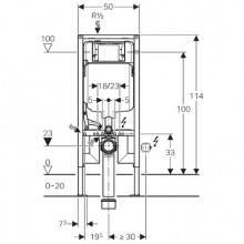 Modulo d'installazione Duofix con Cassetta Sigma 8 cm GEBERIT