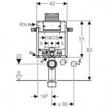 Modulo d'installazione Kombifix con Cassetta...