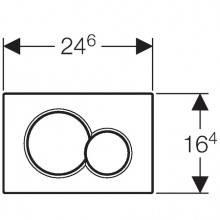 Placca di comando Sigma01 Cromato opaco GEBERIT