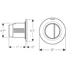 Placca di comando Geberit01 Cromo lucido Cassetta 12