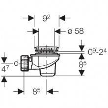 Sifone per piatto Doccia 60 mm GEBERIT