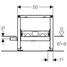 Modulo Duofix con scarico a parete doccia 50...