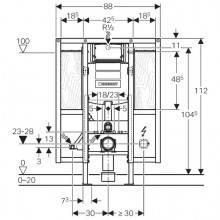 Duofix con cassetta Sigma 12 per disabili