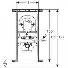 Modulo Kombifix per orinatoio senza acqua GEBERIT