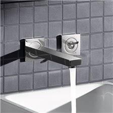 Miscelatore per lavabo a due fori a parete M Grohe Eurocube Joy