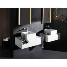 Miscelatore per lavabo a due fori a parete L Grohe Eurocube Joy