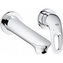 Miscelatore per lavabo a due fori a parete M con leva aperta Grohe Eurostyle