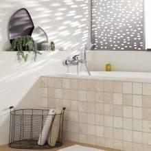 Rubinetto doccia con leva aperta Grohe Eurostyle con limitatore