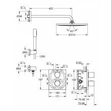 Set doccia termostatico Grohe Grohtherm 3000 Cosmopolitan RS 310