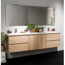 Mobile bagno Life 4 cassetti + modulo centrale 1 sportello e lavabo doppia vasca B10