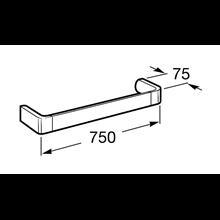 Porta asciugamano lavabo 75cm Select Roca