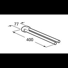 Porta asciugamano lavabo doppio girevole 2.0 Roca