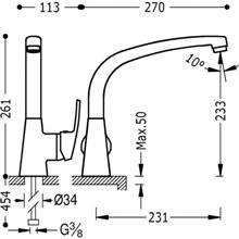 Miscelatore per lavello dritto ECO-TRES