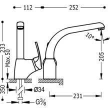 Miscelatore monoblocco per lavello ECO-TRES