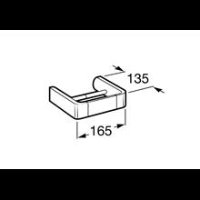 Porta carta igienica senza copertura Select Roca