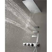 Set doccia termostatico 4 uscite cascata e getti TRES RR