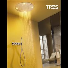 Set doccia termostatico 3 uscite cromoterapia e nebulizzatore TRES