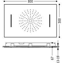 Soffione doccia tetto Cascata 2 funzioni TRES...