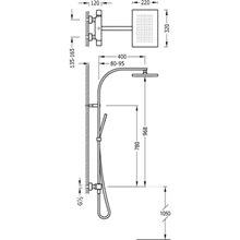 Colonna doccia termostatica bianca TRES SLIM