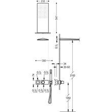 Set termostatico per doccia 2 uscite nero TRES SLIM