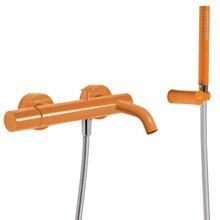 Kit per vasca da bagno - doccia arancione TRES STUDY