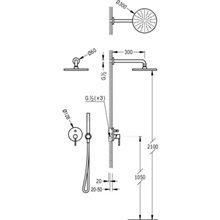 Set doccia acciaio 2 uscite TRES STUDY