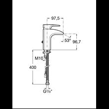 Miscelatore lavabo con catenella retrattile Thesis Roca