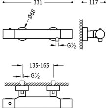 Kit per doccia termostatico TRES STUDY