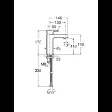 Miscelatore lavabo compatto con collo medio L90 Roca