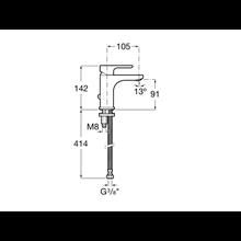 Miscelatore lavabo con raccordo catenella L20 Roca