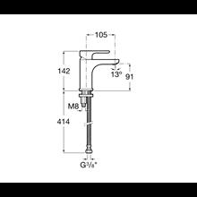 Miscelatore lavabo corpo liscio L20 Roca