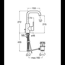 Miscelatore lavabo maniglia laterale integrata L20 Roca