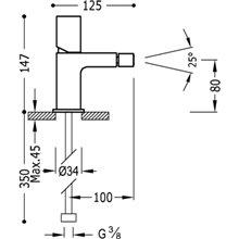 Rubinetto per bidet in acciaio TUB TRES LOFT
