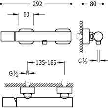 Kit per doccia acciaio TRES LOFT