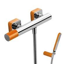 Kit per doccia arancione TRES LOFT