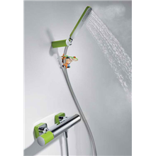 Kit per doccia verde TRES LOFT